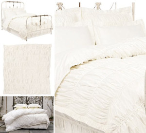 diy anthropologie style eiderdown/bed throw