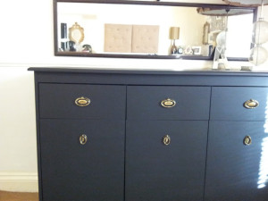 black board painted dresser