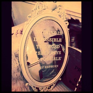 motivational quote mirror
