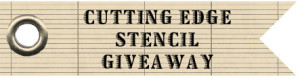cutting edge stencils giveaway / and my curtains