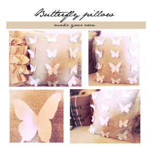 butterfly pillow tutorial