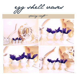 egg shell vases