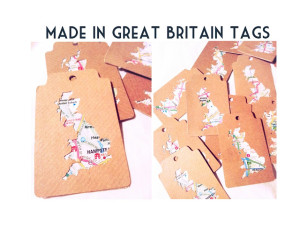 made in great britain map tags