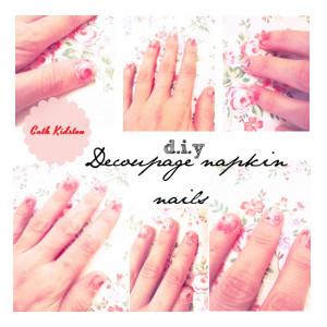 cath kidston diy decoupage nails