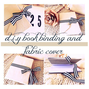 booking binding and fabric cover tutorial