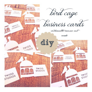bird cage business cards