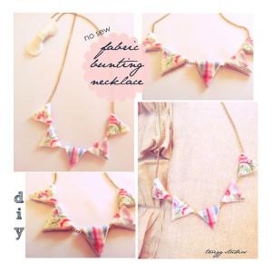 scrap fabric bunting necklace tutorial