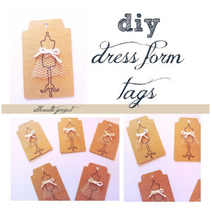 diy dress form tags