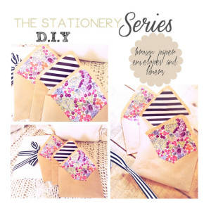 the stationery series part1 envelopes diy