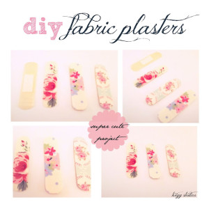 diy fabric plasters