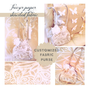 design your own fabric with a freezer paper stencil plus purse tutorial