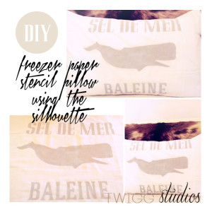 french freezer paper stencil pillow