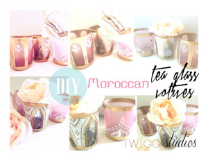 moroccan tea glass votives tutorial