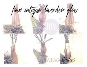 faux antique lavender glass diy