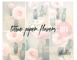 naturally dyed tissue paper flowers tutorial