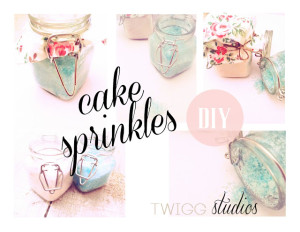 diy cake spinkles
