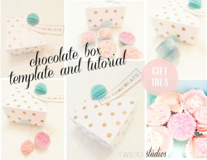 chocolate box template and tutorial