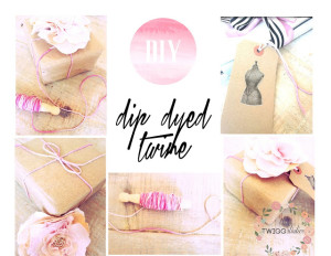 dip dyed twine