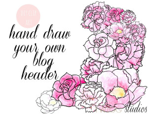 hand draw your own blog header