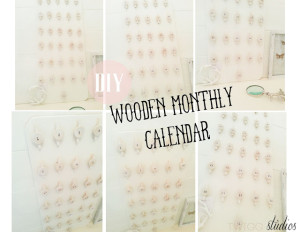 wooden monthly calendar
