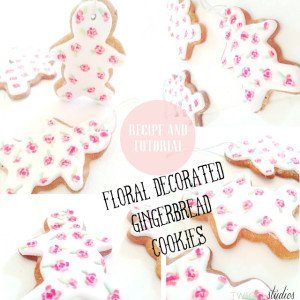 floral decorated gingerbread, recipe and tutorial