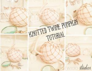 knotted jute twine pumpkin tutorial