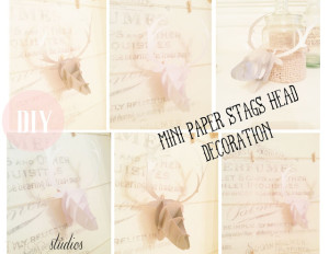 paper stags head decoration and printable
