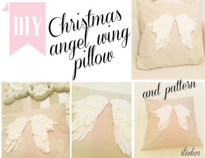 angel wing pillow