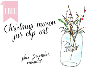 christmas mason jar clip art