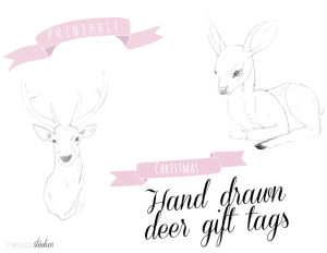 printable hand drawn deer tags