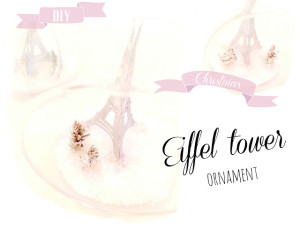 eiffel tower ornament tutorial (made on the silhouette)