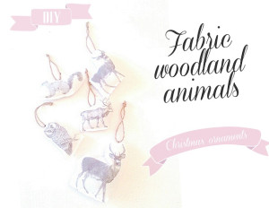 fabric woodland animal ornaments