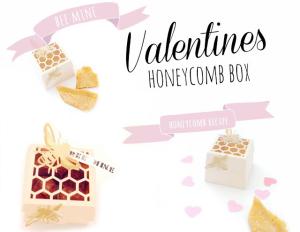 valentines honeycombe box bee mine