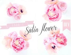 satin flower tutorial