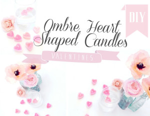 ombre heart candles