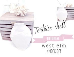 west elm tortoise shell knock off