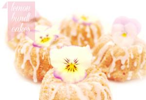 lemon bundt cakes