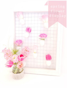 spring hanging flower display frame