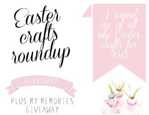 easter round up and MyMemoriesV4 giveaway