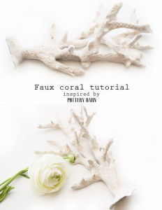 diy faux coral inspired by pottery barn