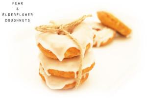 pear and elderflower doughnuts