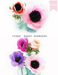 crepe paper anemones tutorial
