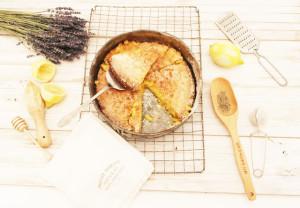 lavender lemon and honey cake