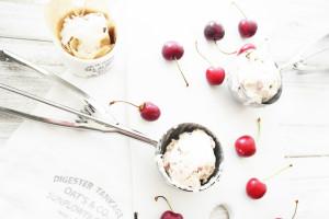 cherry and coconut icecream