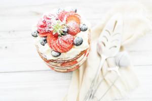 fresh cream layer cake