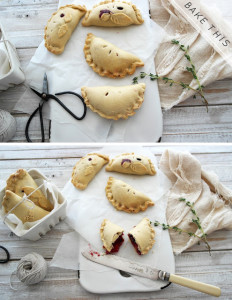 apple blackberry cinnamon mini pasties