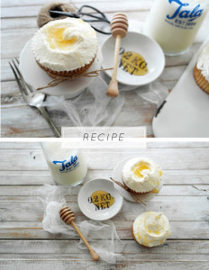 elderflower honey cupcakes with Mascapone buttercream