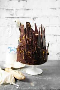 chocolate orange shard cake