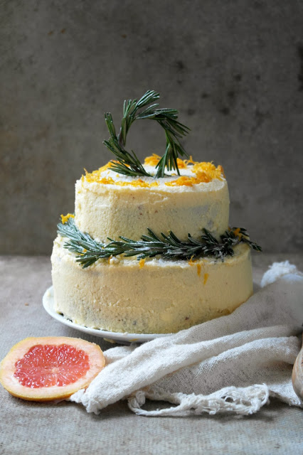 Grapefruit Sponge Cake Recipe