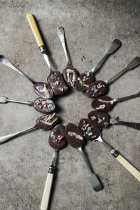chocolate spoons for the holidays
